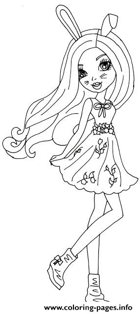 Harelow Ever After High coloring pages