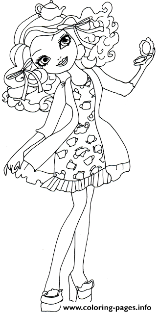 Madeline Hatter Getting Fairest coloring pages