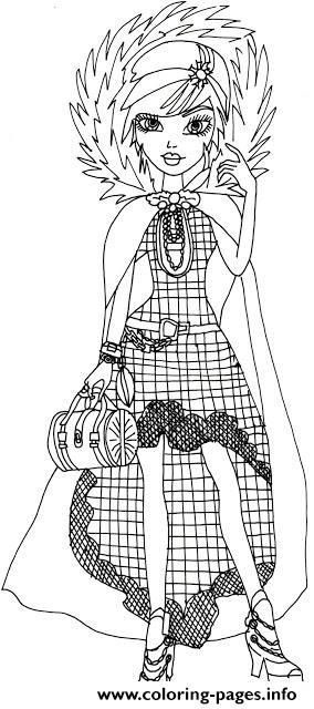 Cerise Hood Legacy Day Ever After High Coloring Pages
