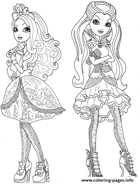 Apple White And Raven Queen Coloring Pages Printable