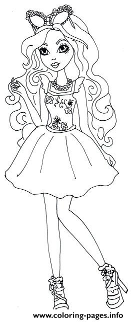 Ashlynn Ella Mirror Beach Ever After High Coloring Pages Printable