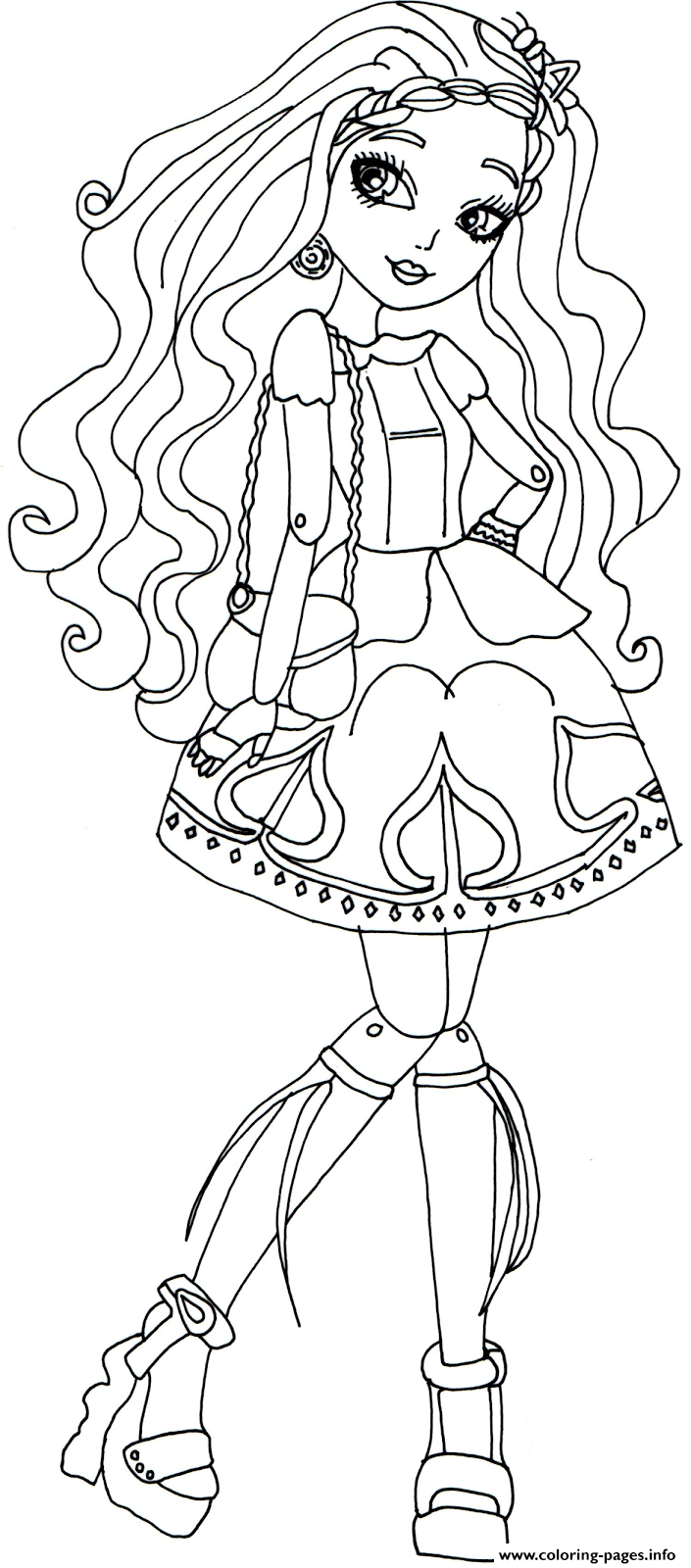 Ever after high cedar wood coloring pages printable