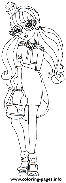 Ginger Breadhouse Ever After High coloring pages