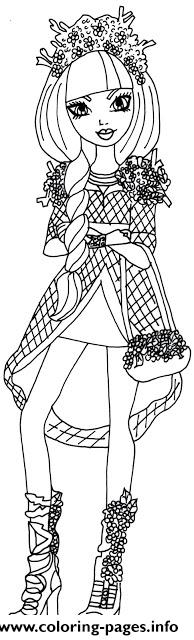 spring unsprung cerise hood ever after high coloring pages