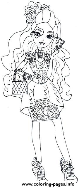 Spring Unsprung Lizzie Hearts Ever After High coloring pages