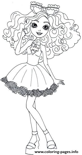 Madeline hatter ever after high coloring pages printable for Madeline coloring pages printable