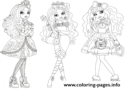 Apple White Briar Beauty Blondie Locks Ever After High Coloring Pages Printable