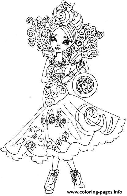 Briar Beauty Way Too Wonderland Ever After High Coloring Pages Printable