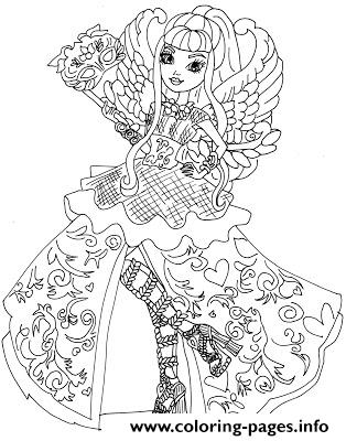 CA Cupid Thronecoming coloring pages