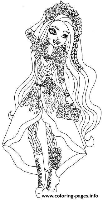 Spring Unsprung Holly O Hair Ever After High Coloring Pages Printable