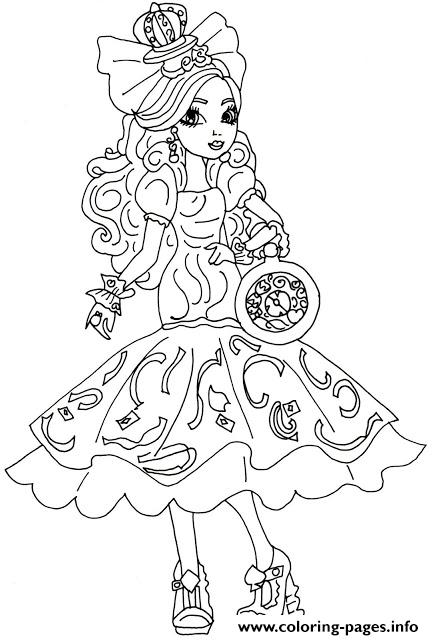Apple White Way Too Wonderland Ever After High Coloring