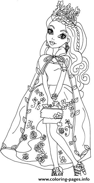 Ashlynn Ella Legacy Day Ever After High Coloring Pages Printable