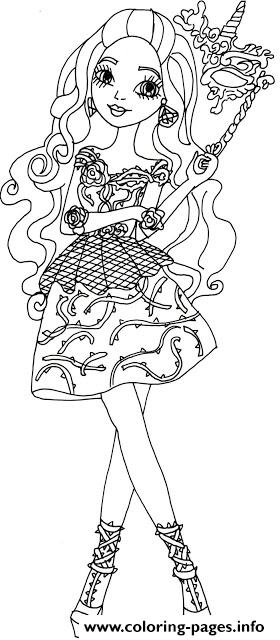Briar Beauty Thronecoming Ever After High Coloring Pages Printable