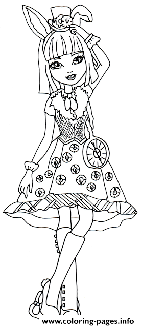 Bunny Blanc Ever After High Coloring Pages Printable