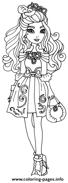 Darling Charming Ever After High coloring pages