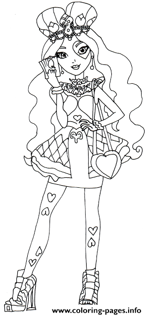 Lizzie Hearts Ever After High Coloring Pages Printable