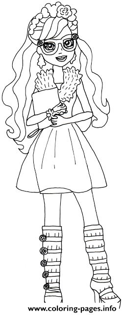 Rosabella Beauty Ever After High coloring pages