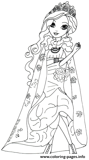 Briar Beauty Legacy Day coloring pages