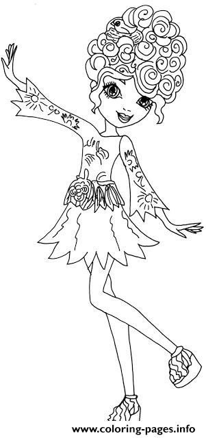 Featherly Ever After High coloring pages