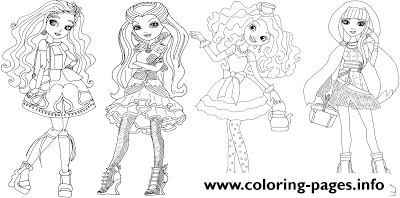 Cedar Wood Raven Queen Madeline Hatter Cerise Hood Ever After High Coloring Pages