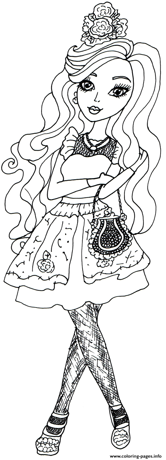 Printable coloring pages ever after high - Darling Charming Ever After High Coloring Pages