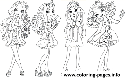 Getting Fairest Ever After High coloring pages