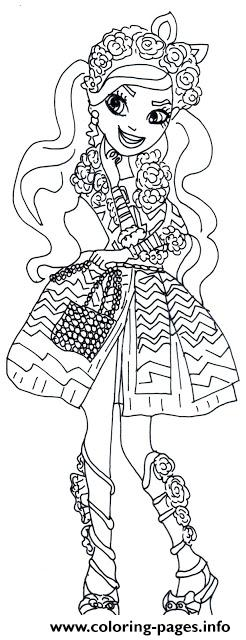 Spring Unsprung Kitty Chesire Ever After High Coloring Pages Printable