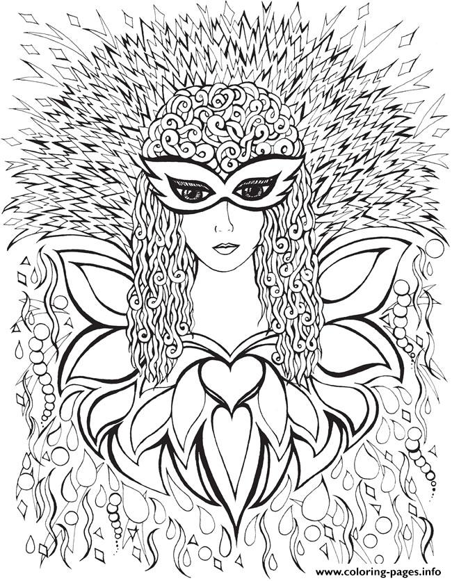 Creative Haven Fanciful Faces Adults 2 coloring pages