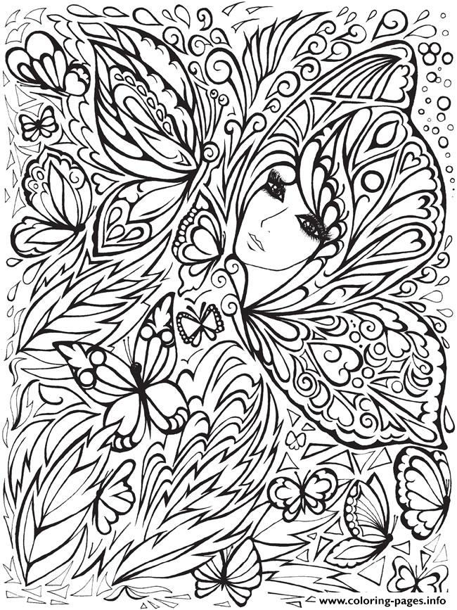 Creative Haven Fanciful Faces Adults 5 Coloring Pages