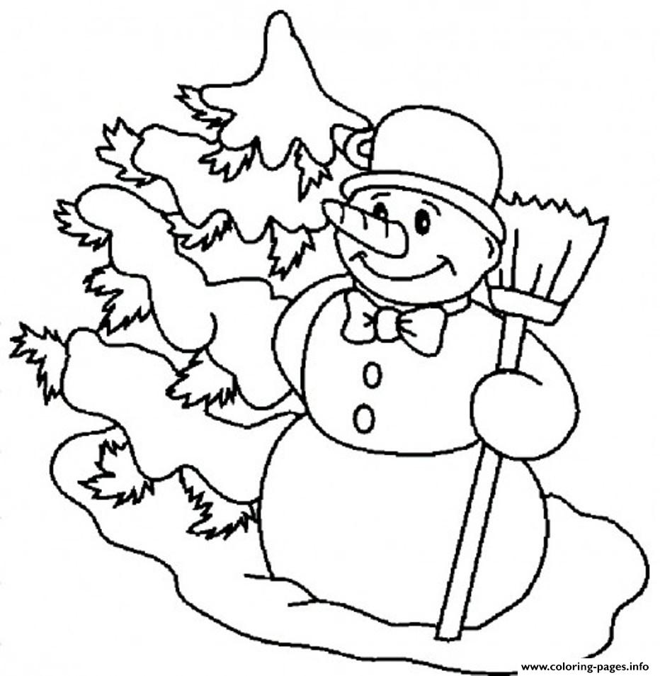 Carrot Nose Snowman Sa0b8 coloring pages