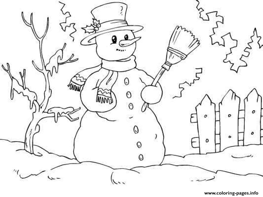 Snowman Free8a74 coloring pages