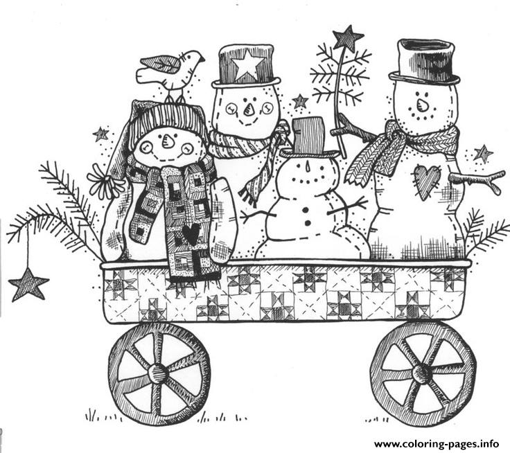 Print Able Snowman Sf2d3 coloring pages