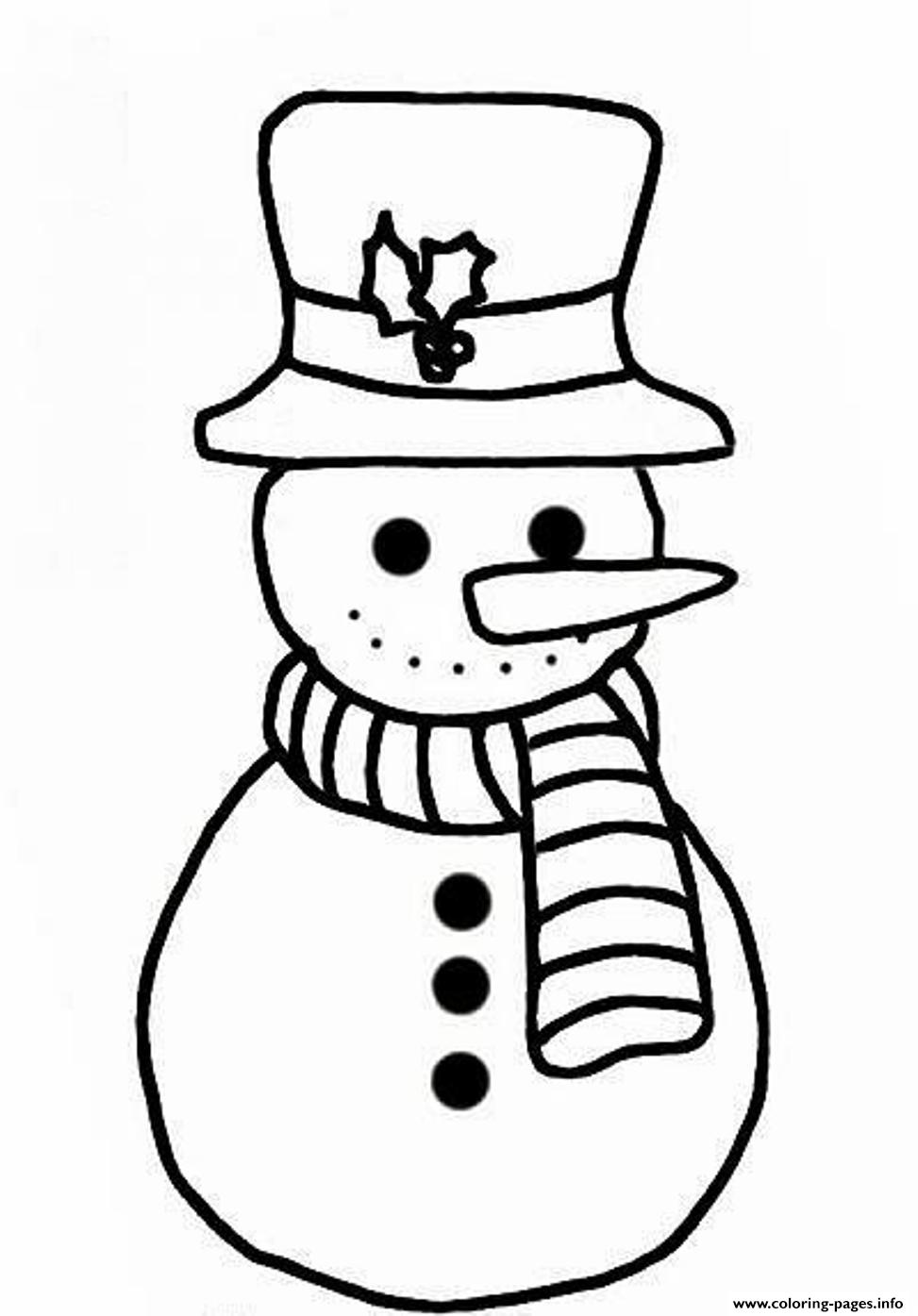 Snowman S For Kids Free15cb0 Coloring Pages