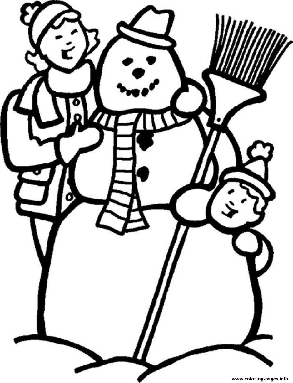 Making Snowman S Winter 055c Coloring Pages Printable