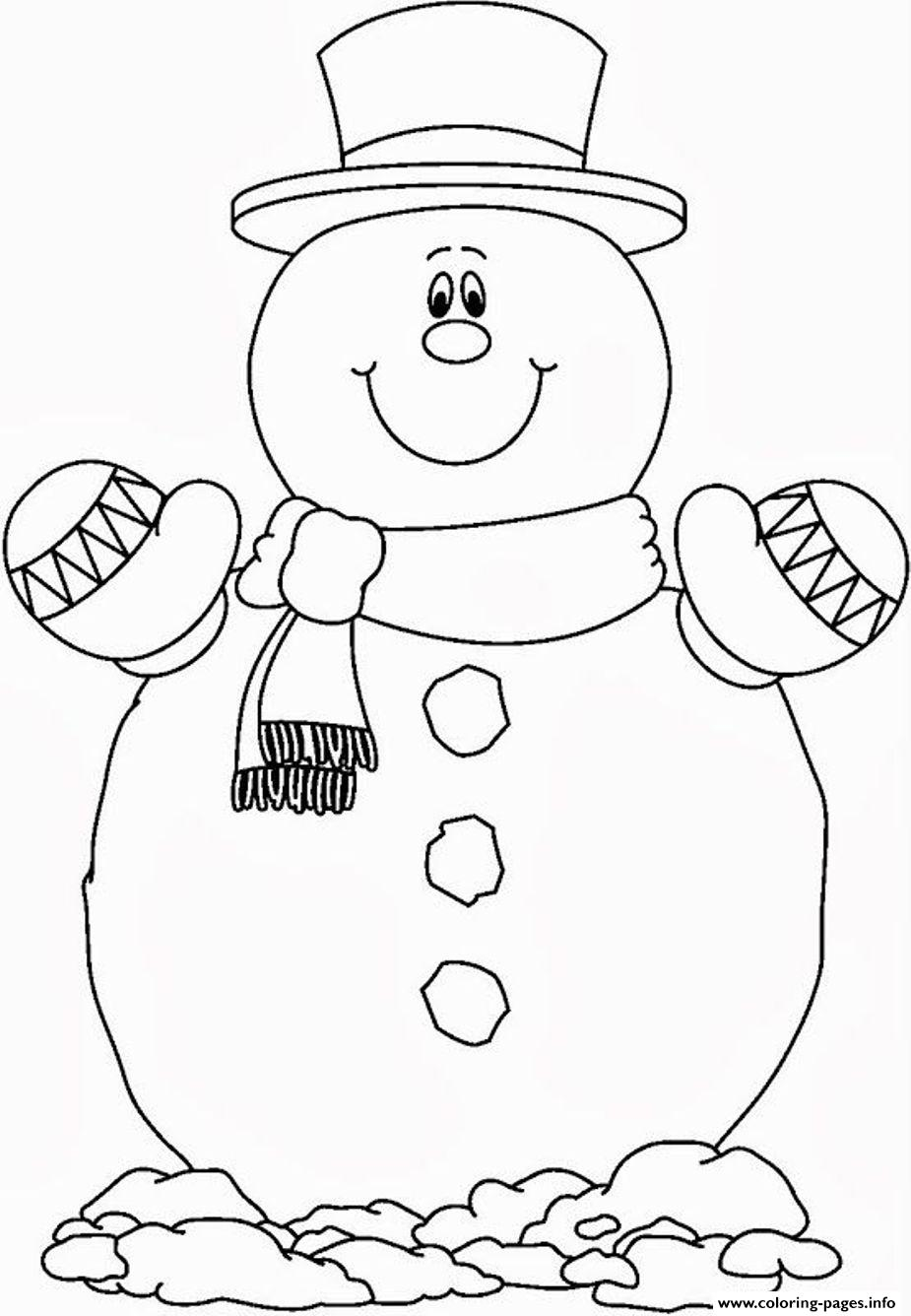 Smilling snowman s free0757 coloring pages printable for Coloring pages of snowman