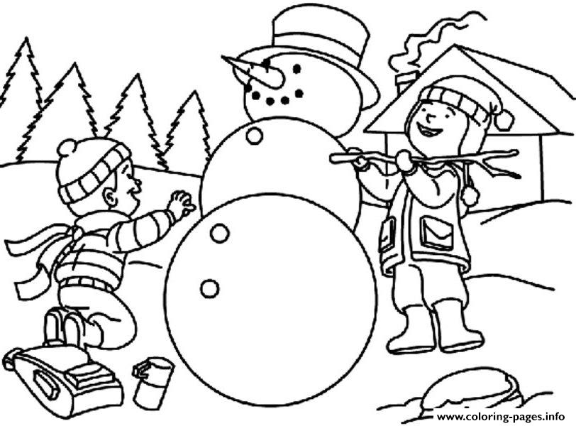 Making Snowman S For Kids Dd41 coloring pages