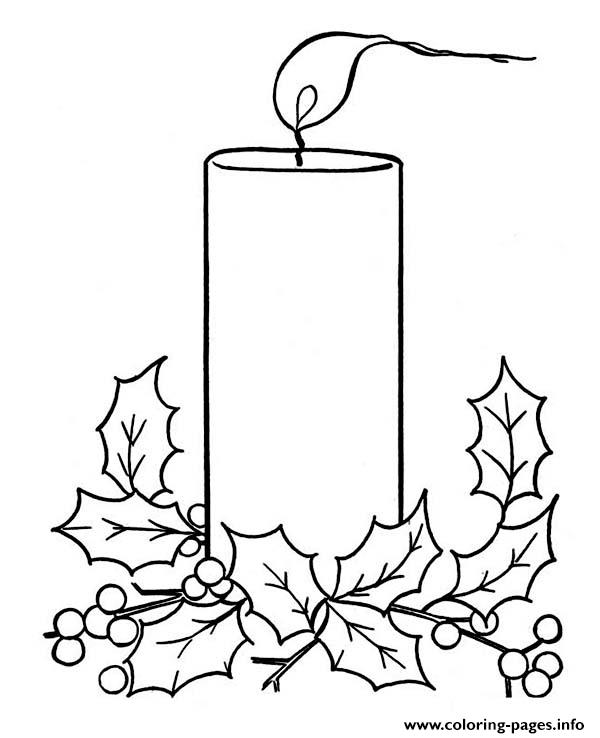 christmas candle coloring pages printable