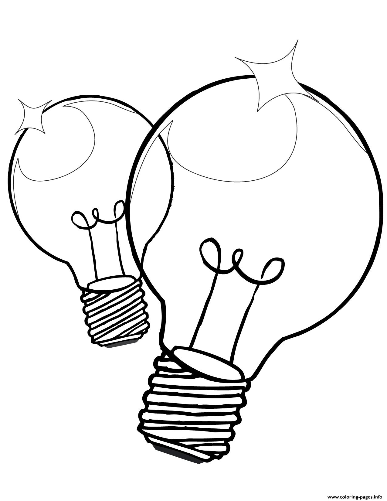 christmas light bulb coloring page coloring pages