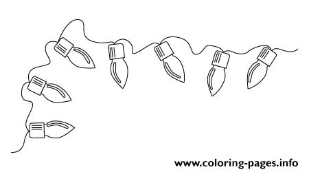 christmas tree light bulb coloring pages | Drawing Christmas Tree Lights Coloring Pages Printable