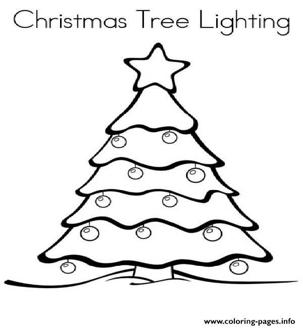 Christmas Lights 4 Coloring pages Printable