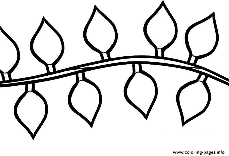 String Of Lights Coloring Page : Christmas Light String Drawing Coloring Pages Printable
