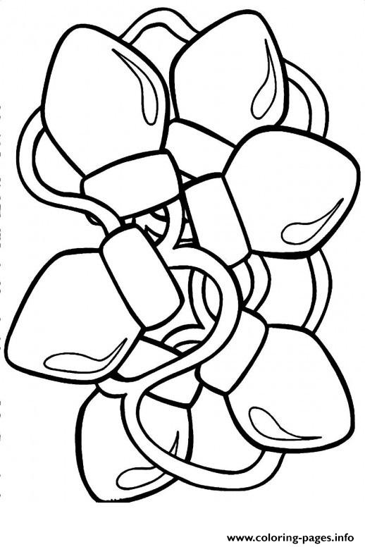 Christmas Lights 2 coloring pages