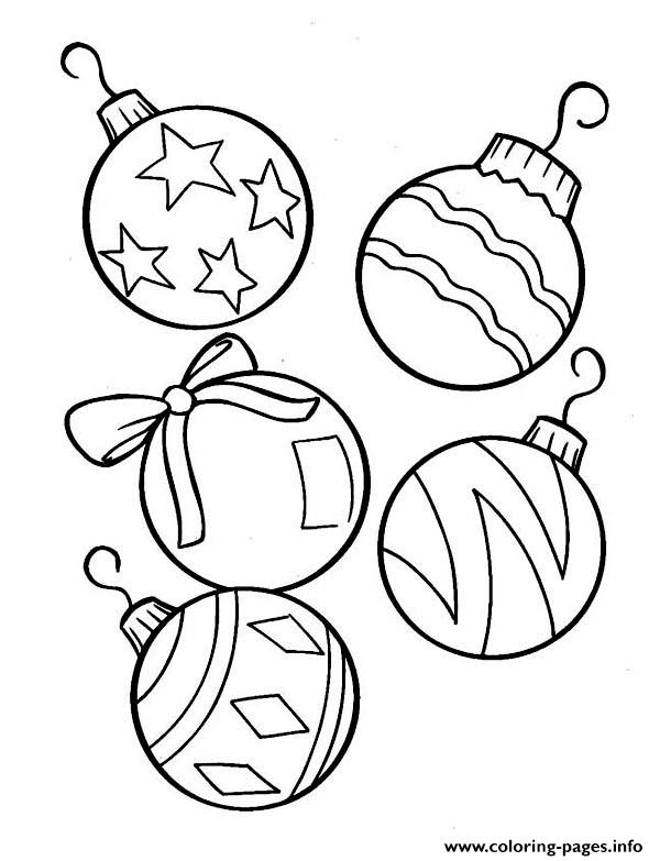 picture regarding Printable Christmas Tree Ornaments titled Xmas Tree Ornament Coloring Internet pages Printable