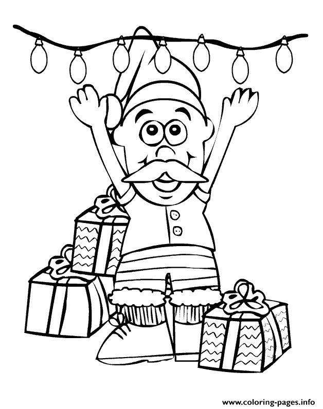 Little Cute Christmas Santa Claus With Christmas Lights68 coloring pages
