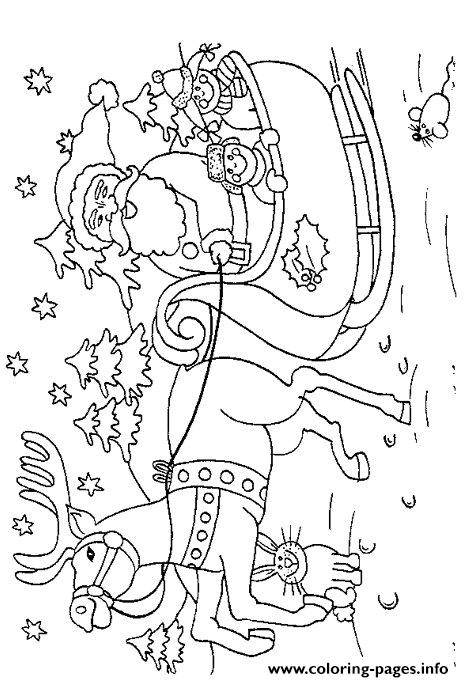 Christmas Santa Claus And Reindeer 25 coloring pages