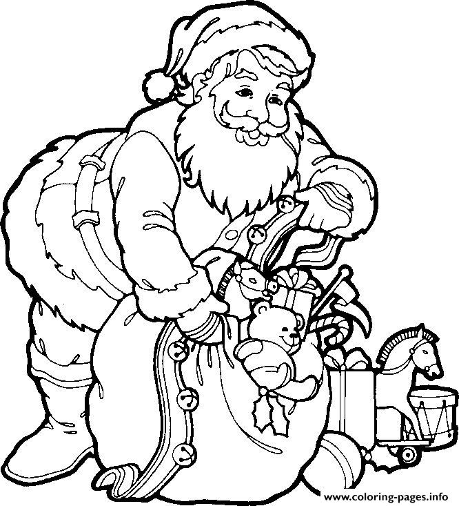 Christmas Santa Claus Picture For Children 83 Coloring Pages Printable