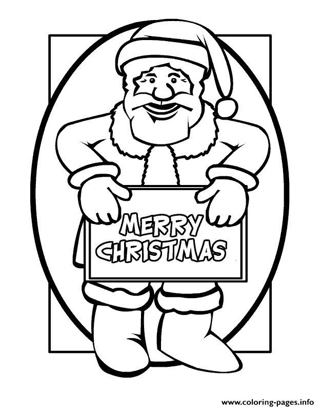 Merry Christmas From Christmas Santa Claus 67 coloring pages