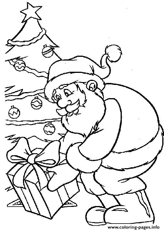 Christmas Santa Claus Tree07 coloring pages