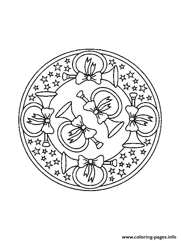 mandala christmas 05 coloring pages printable. Black Bedroom Furniture Sets. Home Design Ideas