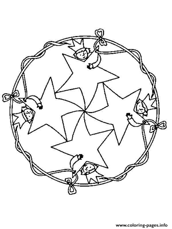 Mandala Christmas 20 coloring pages